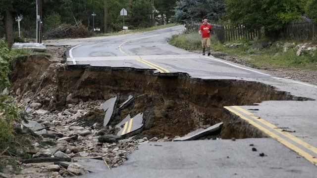 Road cracked