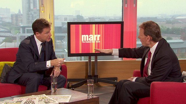 Nick Clegg and Andrew Marr