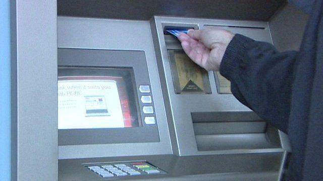 An ATM machine