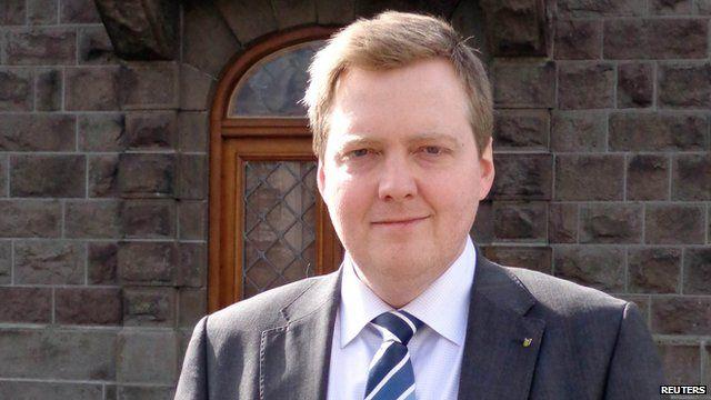 Icelandic Prime Minister Sigmundur David Gunnlaugsson