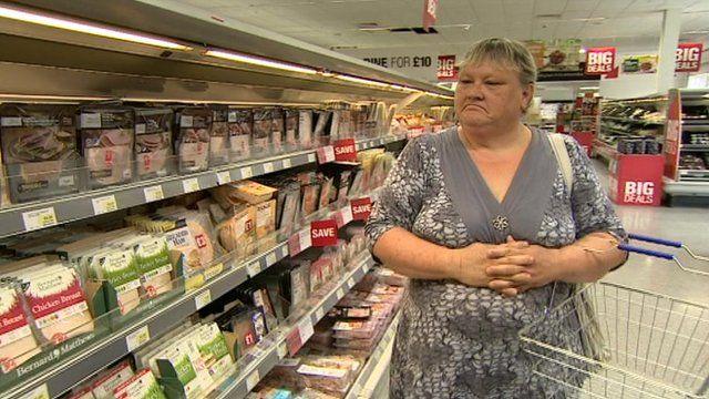 Tina Jefferies in a supermarket