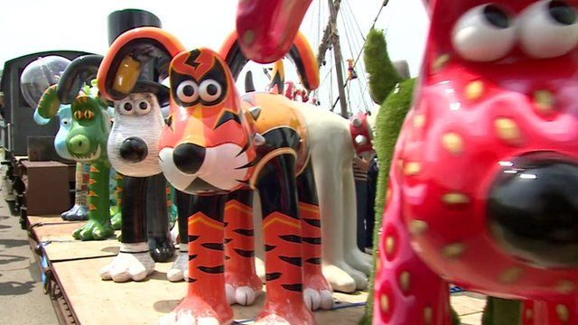 Multi-coloured Gromits