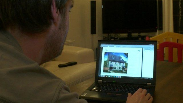 Chris looks at new home online