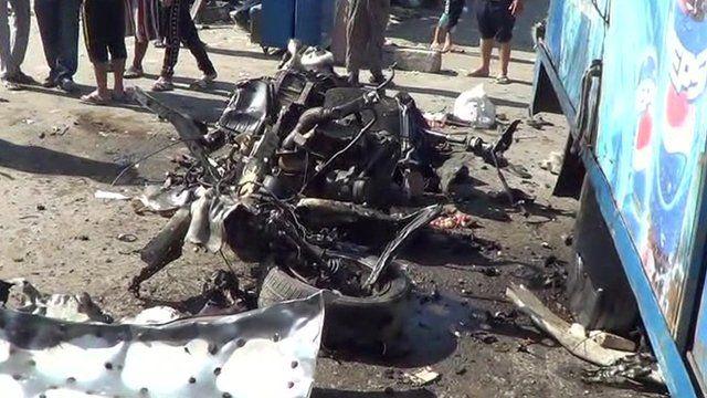 Aftermath of blast in Sadr City