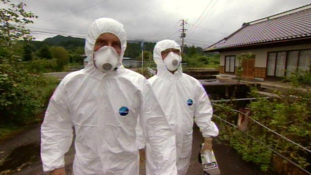An inspection near Fukushima