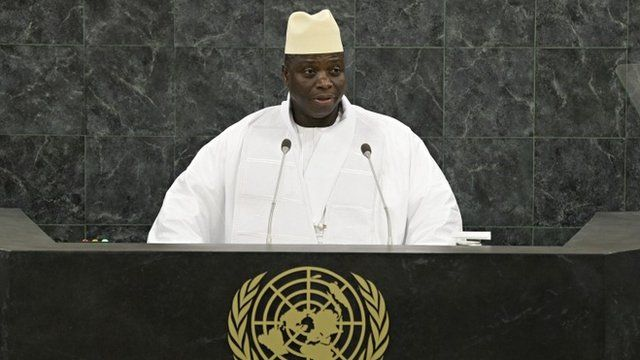 Gambian President Yahya Jammeh at UN