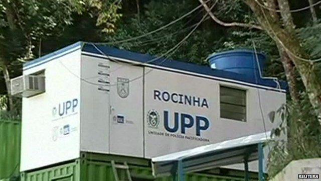 Police base at Rocinha shanty-town in Rio de Janeiro
