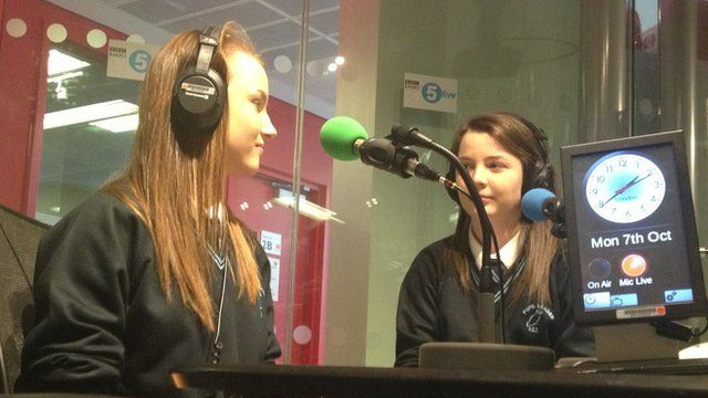 Holly and Lauren in radio studio