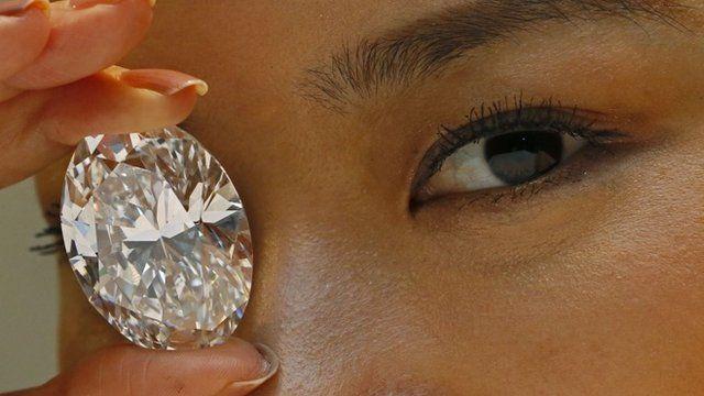The white diamond on display