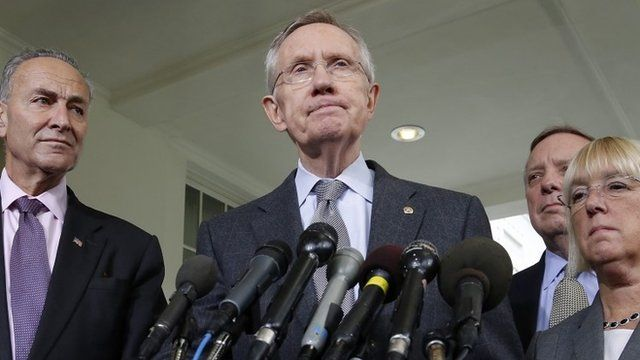 US Senate majority leader Harry Reid