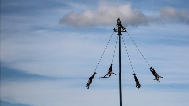 The Dance of the Flier or Voladores