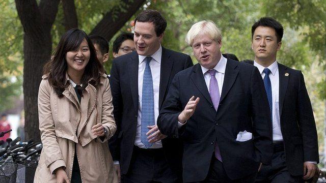 Chancellor George Osborne and London Mayor Boris Johnson in China