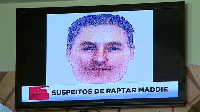 Picture of Portuguese TV showing e-fit