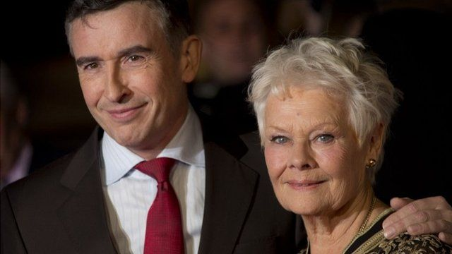 Steve Coogan and Judi Dench