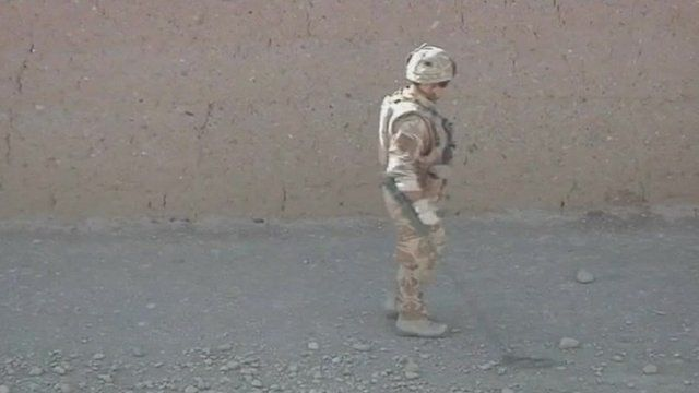 Bomb disposal soldier