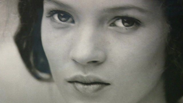 First professional photograph of Kate Moss