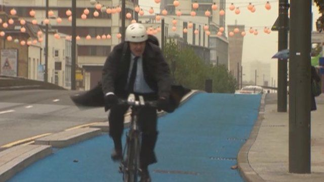 Boris Johnson on the new cycle extension