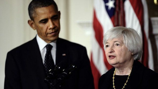 President Obama and Janet Yellen