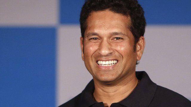 Indian cricket player Sachin Tendulkar