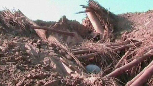 Aftermath of drone strike in Pakistan