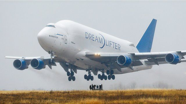 Dreamlifter takes off