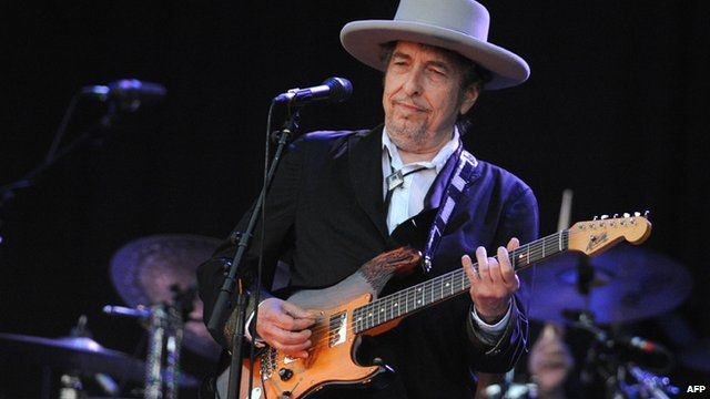 (File photo) Bob Dylan performing in 2012