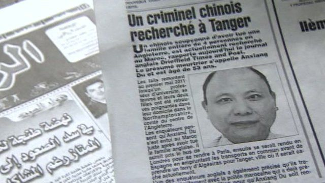 Article in Moroccan newspaper about wanted man Anxiang Du
