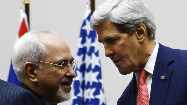 Iran FM Mohammad Javad Zarif and US Secretary of State John Kerry (24 Nov)