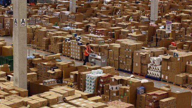 Inside an Amazon website