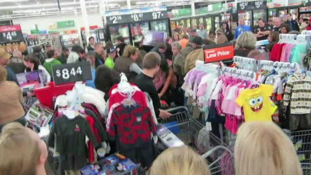 Crowds in Walmart