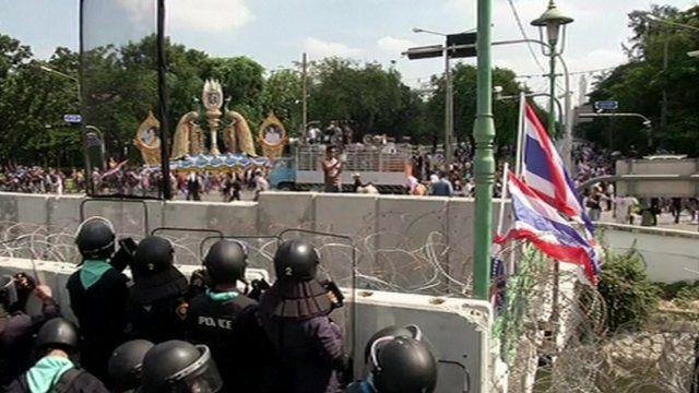 Riot police in Bangkok