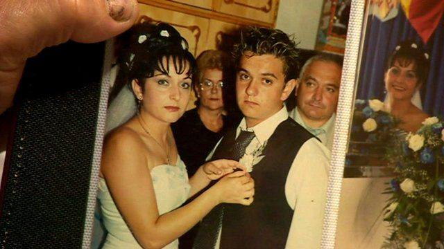 Romanian family wedding photograph