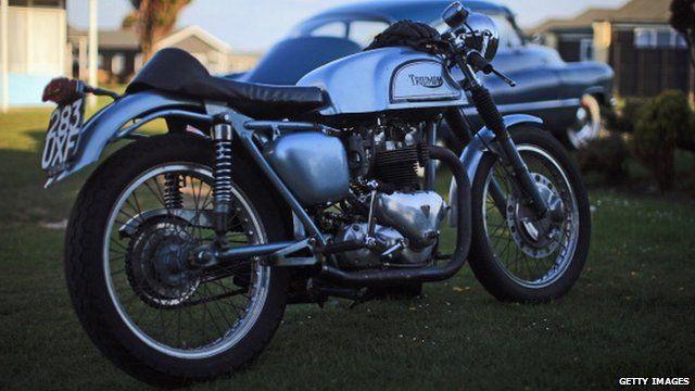 A Triumph bike