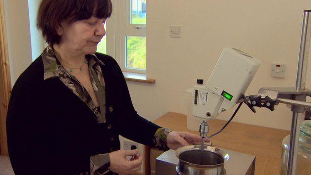 Rosaria Piseri with mixer