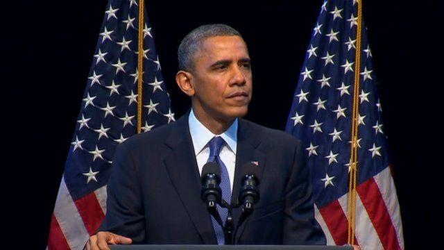 President Barack Obama appeared in Washington DC on 4 December 2013