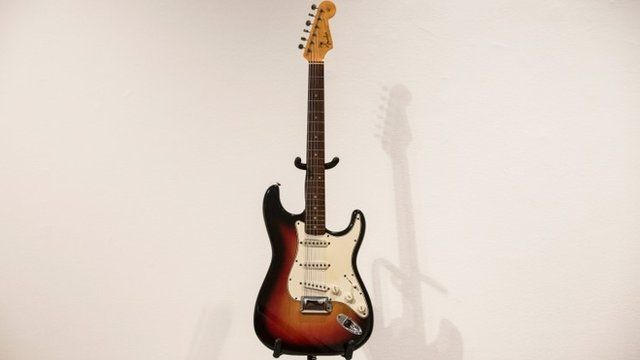 Fender Stratocaster once owned by Bob Dylan