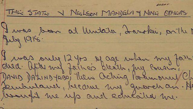 Nelson Mandela's legal notes