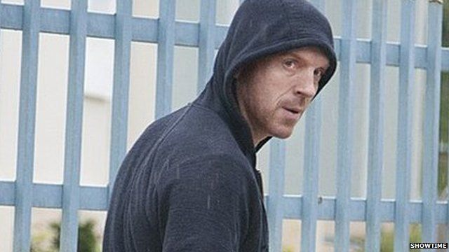Actor Damian Lewis playing Brody in the US drama Homeland