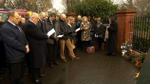 Memorial service for Clapham rail crash victims