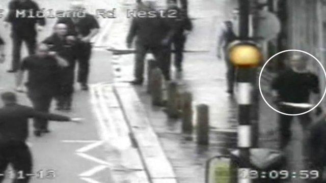 Police chasing machete man