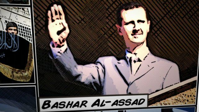 Drawing of SYrian leader