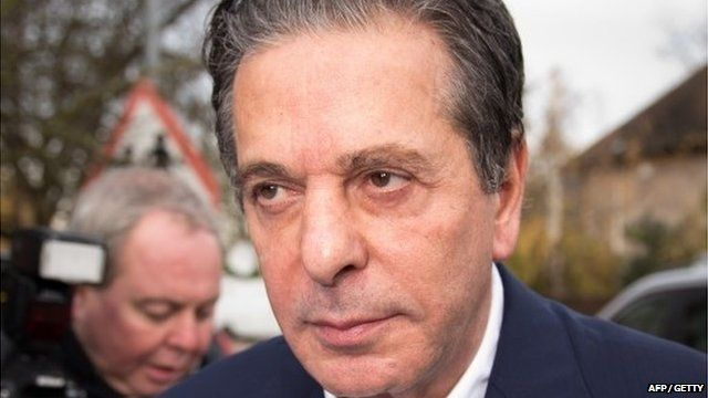 British art tycoon Charles Saatchi arrives to give evidence at Isleworth Crown Court in west London on November 29, 2013.