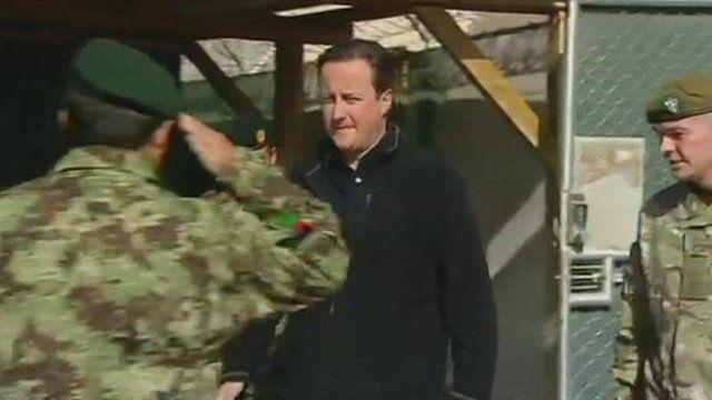 David Cameron meets Afghan troops