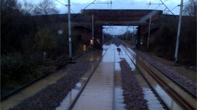 Flooded tracks