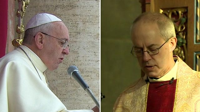 Pope Francis and Archbishop of Canterbury Justin Welby