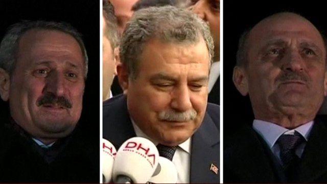 Left to right: Zafer Caglayan, Muammer Guler, and Erdogan Bayraktar
