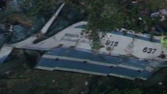 Wreckage of the bus that fell off the bridge, Phetchabun, Thailand