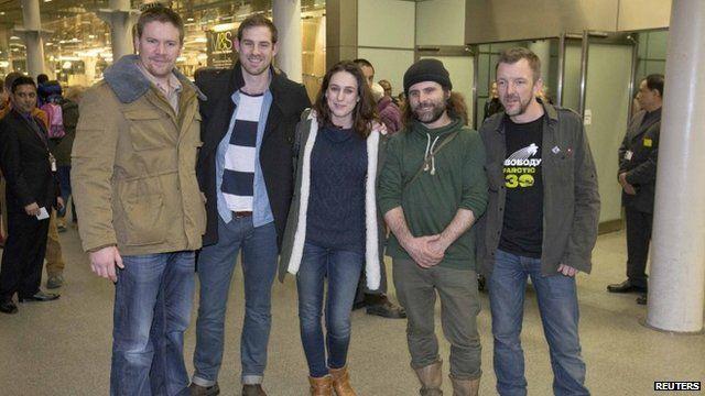 Anthony Perrett, Kieron Bryan, Alexandra Harris, Iain Rogers and Phil Ball (left to right)