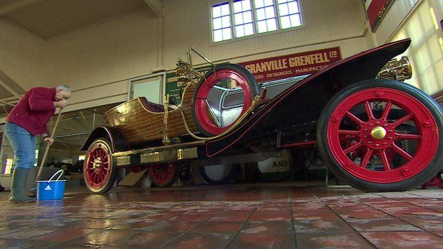 Vintage car which appeared in Chitty Chitty Bang Bang