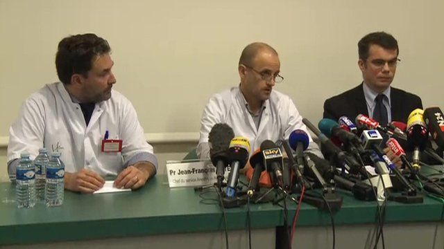 Three doctors at news conference